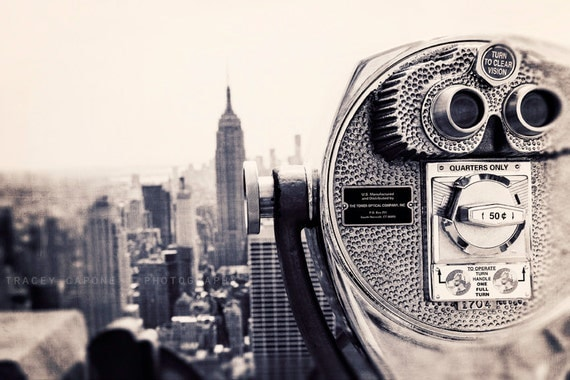 New York City Print - Empire State Building Photography - black and white, viewfinder art print, urban home decor, Wall Art - Viewpoint