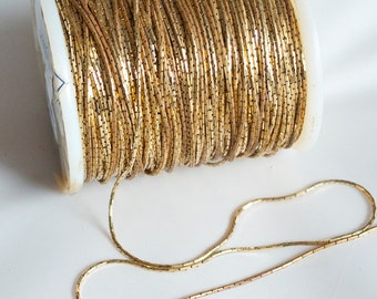 3 feet Vintage Golden Brass Snake Chain // 1960s Deadstock Unfinished NecklaceChain by the Foot