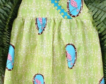 Size 5 Girl's dress Ellen by Children's Corner in Lime, Pink, Turquoise