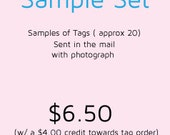 Tag Sample set card or previous projects with a reference photo and reference finishes.