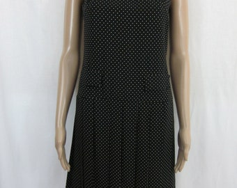 1960s Black and White Polka Dot Mini Dress