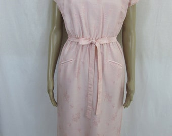 1960s Pink MadMen Office Wiggle Dress