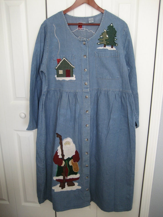 Ugly christmas dress by tackytreasures221 on etsy