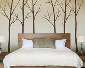 Wall Decal Winter Trees Art Wall Sticker - SimpleShapes
