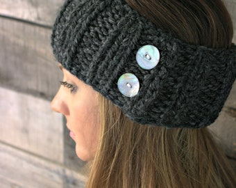Ear warmers with buttons/THE PARKWAY/Stone Quarry