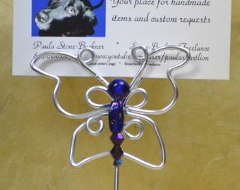 Custom Colors, Butterfly Place Card Holder/Escort Card Holders - Favors