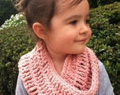 Soft Organic Crochet Toddler Cowl Infinity Scarf - You Choose Color