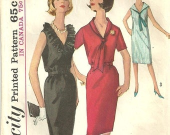 Simplicity 5513 // Vintage 60s Sewing Pattern // Dress Size 18 Bust 38