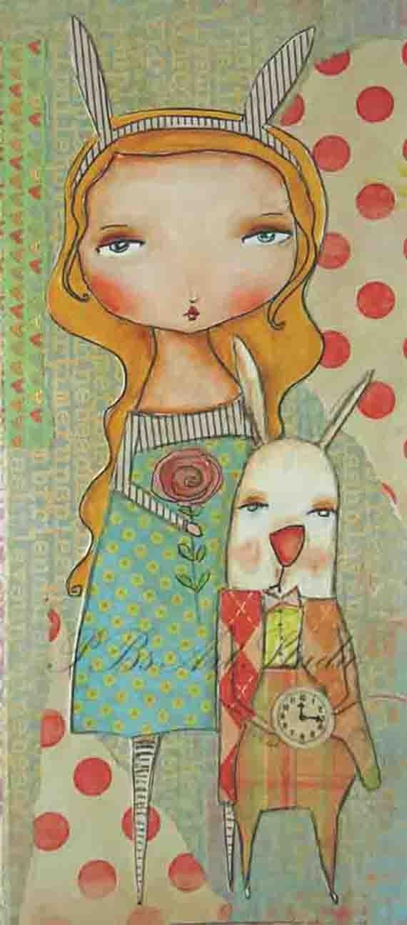 Art Print-Alice And That Rabbit