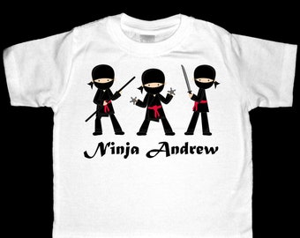 Personalized Ninja Boy Shirt or Bodysuit - Personalized with ANY name