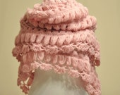 CLEARANCE! Pink Mohair Hittite Shawl