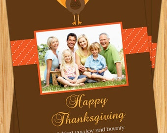 Happy Thanksgiving Photo Card