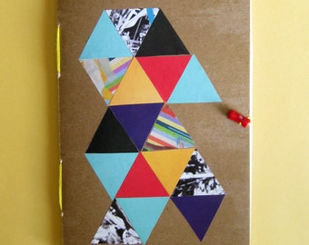 Recycled Journal with Geometric Pattern