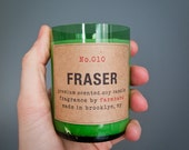 Fraser Fir Scented - Eco-friendly hand poured 6oz soy candle in a recycled beer bottle
