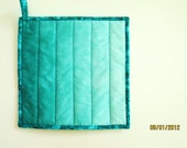 Potholder -- Ombre in Hand Dyed Shades of Teal