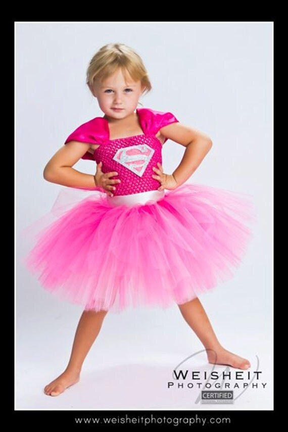 SMALLVILLE SWEETHEART Supergirl Inspired Tutu Dress - Large 4-6T
