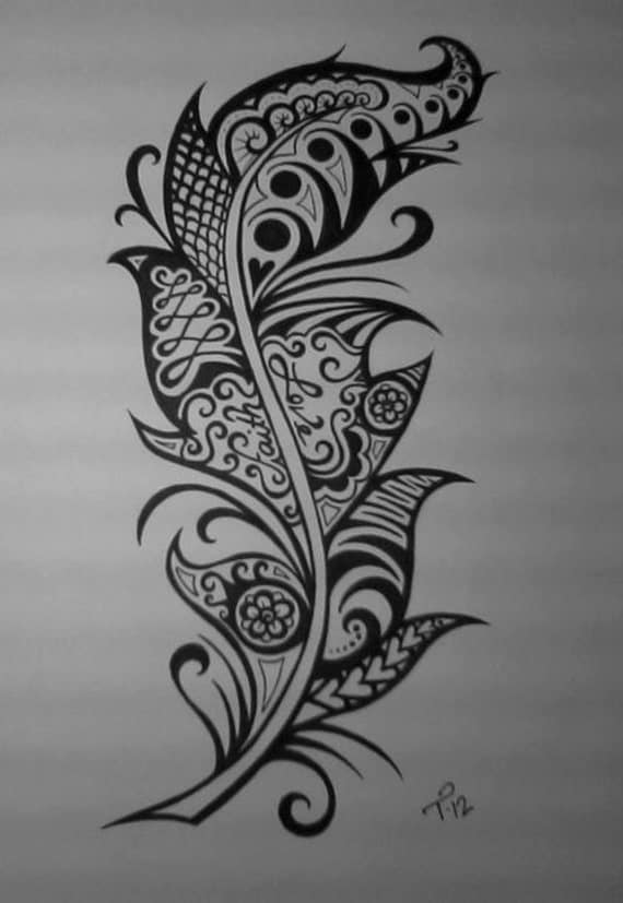 RESERVED For Mattia Custom Ink Drawing Black amp White