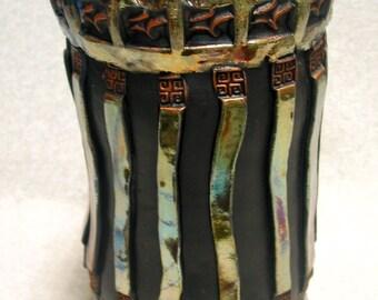 Handbuilt Raku Vase