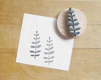 Little Leaves Hand Carved Rubber Stamp