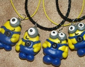 Polymer Clay Despicable Me Inspired Minion Necklace or Keychain