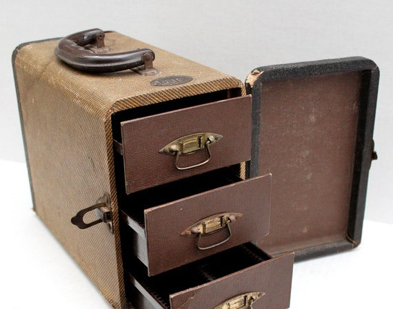 Vintage case three drawers baja tweed slide by - Fax caser bajas ...