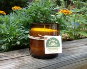 Soy candle - recycled beer bottle container