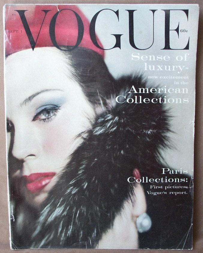 Vintage 1950 S Fashion Magazine Vogue By Momodeluxevintage