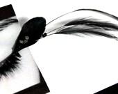 Dramatic Black Feather False Eyelashes