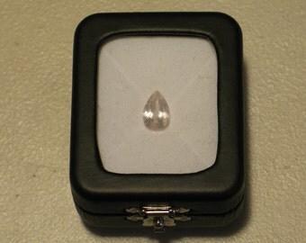 Faceted Quartz Pear Shape
