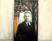 Collage Painting with Vintage Photography for Special Order