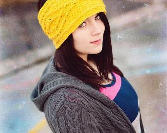 Crochet Pattern, Women's headwrap - Thick Marquise Diamond Headband Crochet Pattern