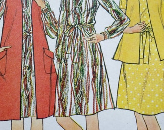 Vintage 70s Sewing Pattern, Mccalls 3961, 1970s Dress with Coat or Vest, Shift Dress Sewing Pattern, Jacket Sewing Pattern, Size 12 Bust 34