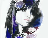 Print of Watercolor Fashion Illustration titled:BIBA1