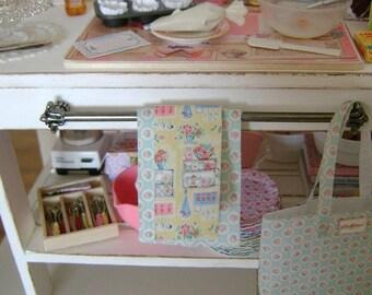 Set of 2 Kitchen Tea Towels - 1:6 Playscale Miniature