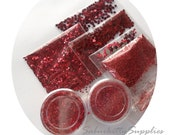 SALE Red Nail Art Deco Kit, hearts stars glitter stick chevron tip guides nail accessories decorations deco red, also scrapbooking use