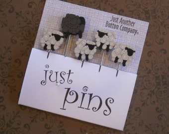 SHEEP PINS.  Perfect for Decorating Ornaments & Pin Cushions.