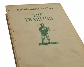 1938 THE YEARLING Vintage Notebook Journal