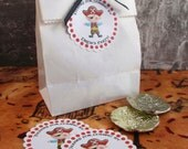 Pirate Boy Party Custom Party Favor Stickers - Ahoy Matey Collection from Tea Party Designs