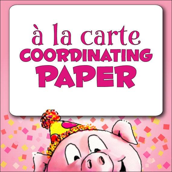 à la Carte PAPER - DIY Printable | Digital Scrapbook Paper | DIY Party Decorations