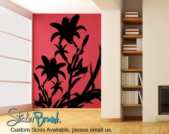 Vinyl Wall Decal Sticker Day Lilies Flowers AC154s