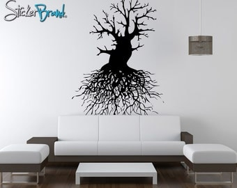 Vinyl Wall Decal Sticker Tree Roots OSAA111m