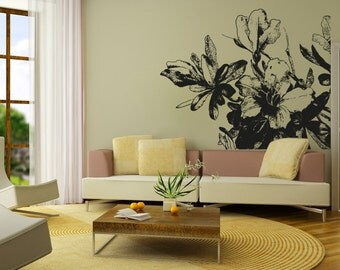 Vinyl Wall Decal Sticker Blooming Flowers OSAA264B
