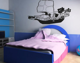 Vinyl Wall Decal Sticker Toy Pirate Ship OSAA308B