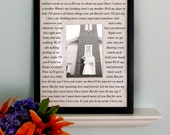 Wedding song lyrics Photo Mat/Matte personalized with Names 11x14