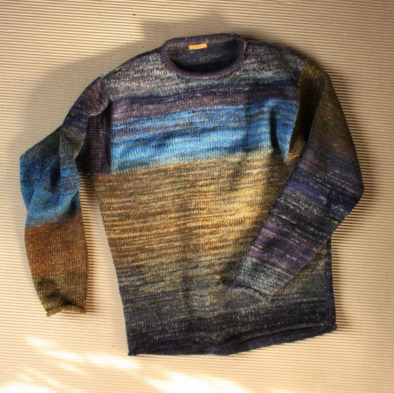 Vermont size M mens, L womans  unisex knit cotton tape and kid mohair sweater
