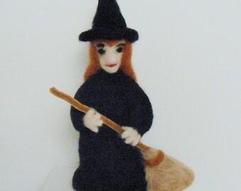 Halloween Witch Needlefelted