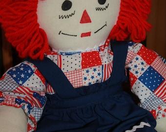 """Raggedy Ann Doll Handcrafted 20"""""""