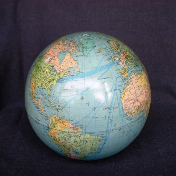 The World in your hand. Rescued globe.