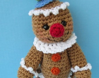Crochet Pattern Gingerbread Man by Teri Crews Wool and Whims Instant Download PDF Format