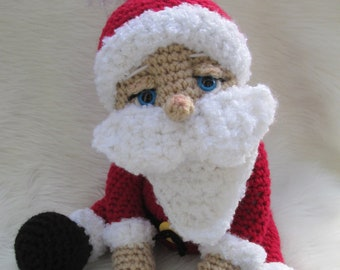 Crochet Pattern Santa Doll by Teri Crews instant download PDF format Crochet Toy Pattern